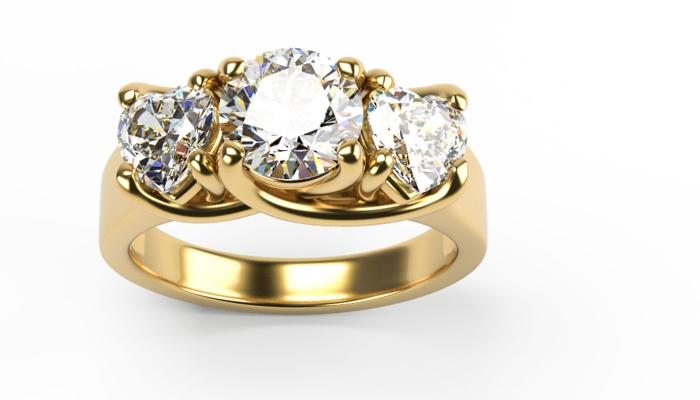 Round and Heart Cut Ring