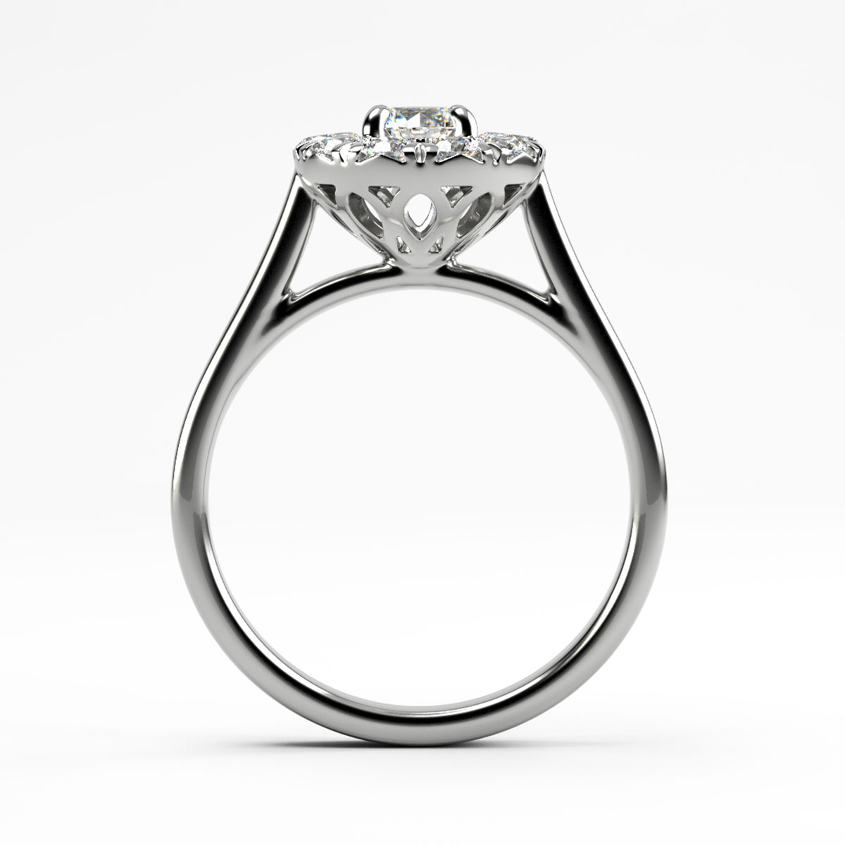 Brilliant Cut Halo Ring